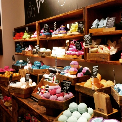 Bathbombs in the Lush shop in Antwerp