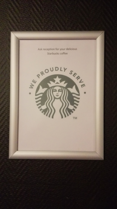 Starbucks present!