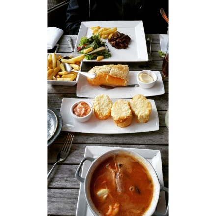 Delicious stewed beef and bouillabaisse