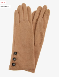 Lauren Ralph Lauren Button Touch Glove camel €44,95