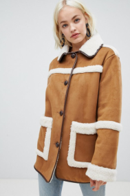 Asos Design vintage style borg jacket €77,49