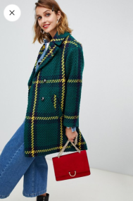 Asos Design double breasted check coat €93,99