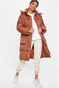Rust Longline Puffer Jacket €67,5