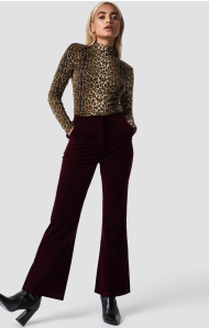 Na-kd party Velvet trousers Red €39,16