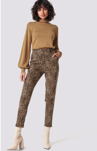 Na-kd Trend Straight Leo Pants Brown €27,26