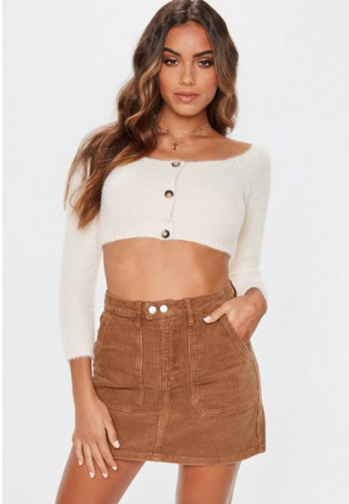 Missguided Tan Cord Mini Skirt €24,75